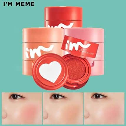 6. I'm Meme Heart Stamp Blusher